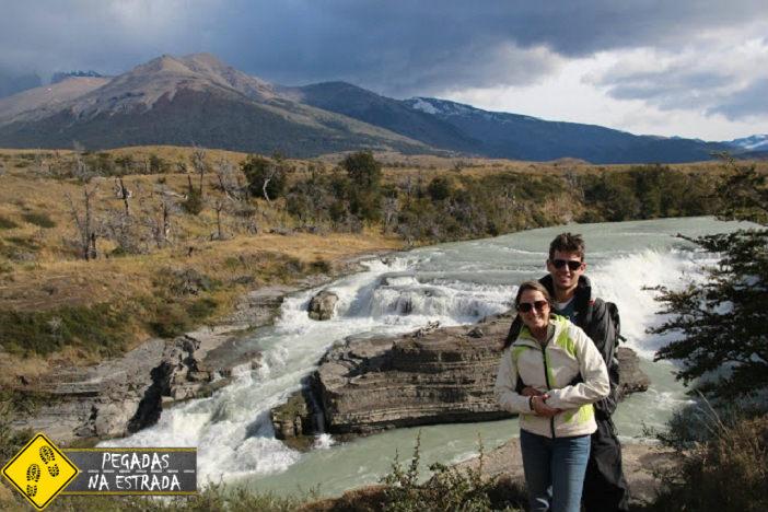 Cascata no Rio Paine no Parque Nacional Torres del Paine. Foto: CFR/Blog Pegadas na Estrada