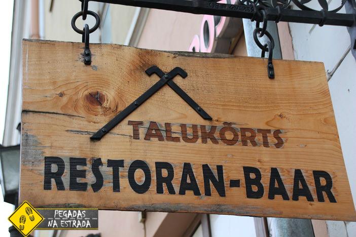 Restaurante Talukorts, Tallinn. Foto: CFR / Blog Pegadas na Estrada